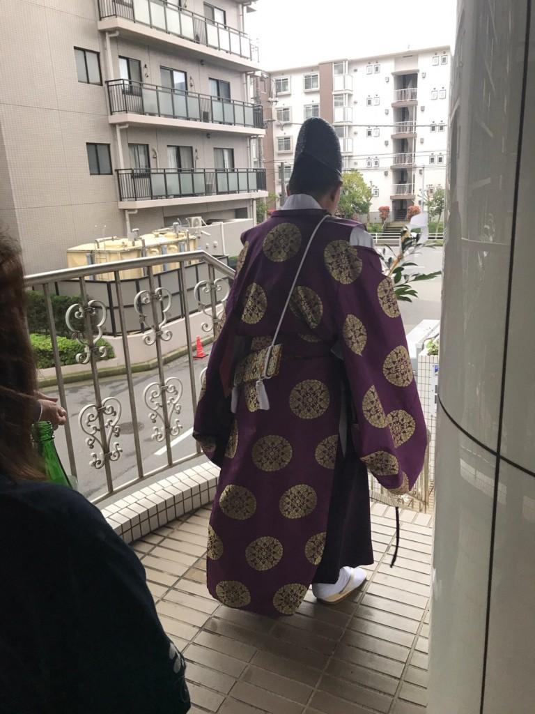 検見川神社の神主様